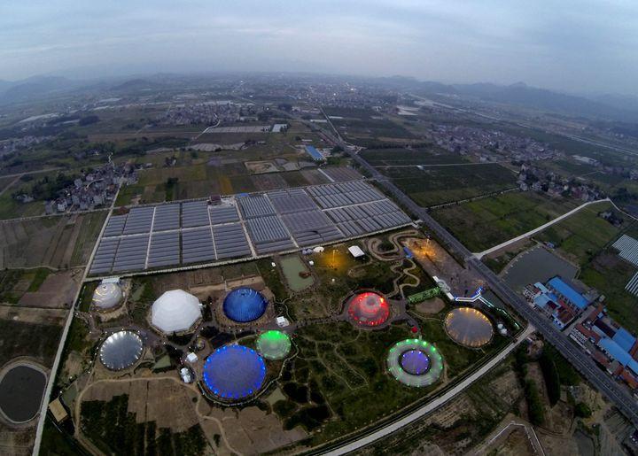 天台花漾星球太空农场的 外星奇景